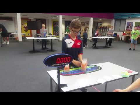 Sport Stacking: First 7.XXX In Tournament! (Old Video)