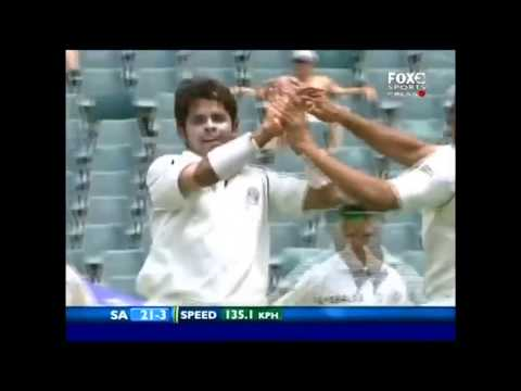 Sreesanth at his best I Match figures of 8 99 I South Africa vs India 1st Test at Johannesburg