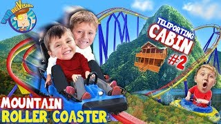 ROLLER COASTER on a MOUNTAIN!! (FUNnel Family Teleporting Cabin Trip pt. 2) Titanic Adventure Vision