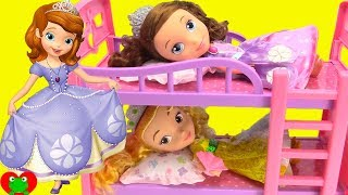 Disney Princess Sofia the First and Amber Bedtime Night Time Routine