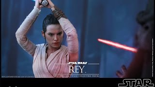 Hot Toys 1/6 Scale Star Wars TFA Rey MMS 336 Unboxing