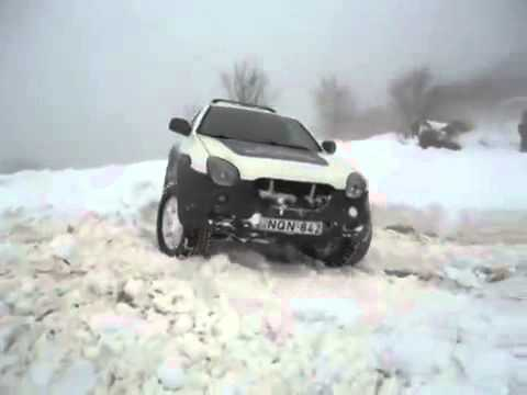 izusu vehicross   off road in snow