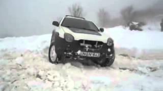 izusu vehicross   off road in snow
