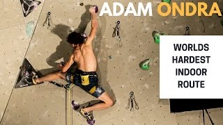 Adam Ondra on The Black Diamond Project - Worlds hardest indoor route