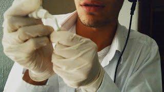 ASMR ❤ Limpieza de Oídos ROLEPLAY - Sonidos (Cotton Swabs, Latex Gloves) Binaural