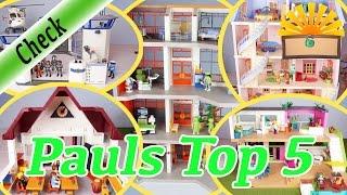 PAUL´S TOP 5 PLAYMOBIL HÄUSER - POLIZEISTATION, SCHULE, KRANKENHAUS, LUXUSVILLA deutsch