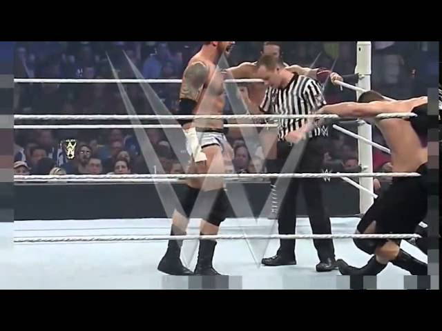 Stephen Amell and Neville vs Stardust and King Barrett