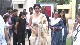 Sridevi INSIDE Filmcity Studio For Mom Movie Promotions