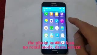 How to remove Samsung Retail mode -