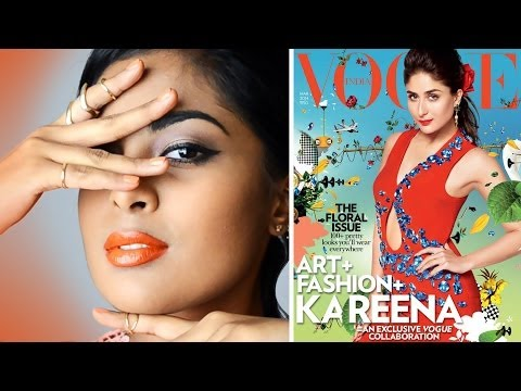 Orange Lips Tutorial - For Dark / Tan / Brown / Indian skin, Inspired by Kareena Kapoor for Vogue