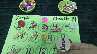Karwa + chauth = karwachauth ladies special kitty party game