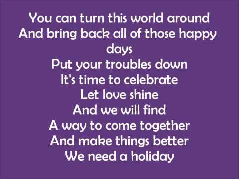 Madonna Holiday Lyrics