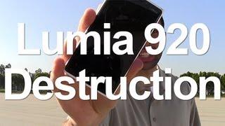 Nokia Lumia 920 Destruction: What Does It Take?