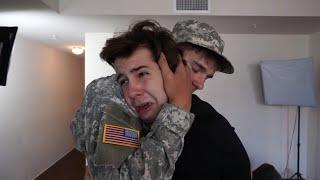SOLDIER SURPRISES BEST FRIEND!!