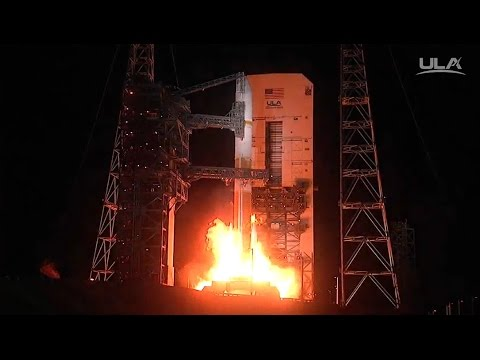 Delta IV arcs into the Night with Internationally funded Military Comms Satellite