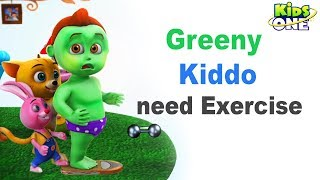 Greeny Kiddo Get Fat, Need Exercise   Funny Episode for Kids - KidsOne