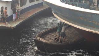 Crazy boat terminal in Bangladesh