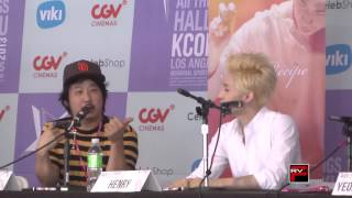 Henry of Super Junior and Bobby Lee talk Final Recipe Movie Clip 1 at KCON 2013