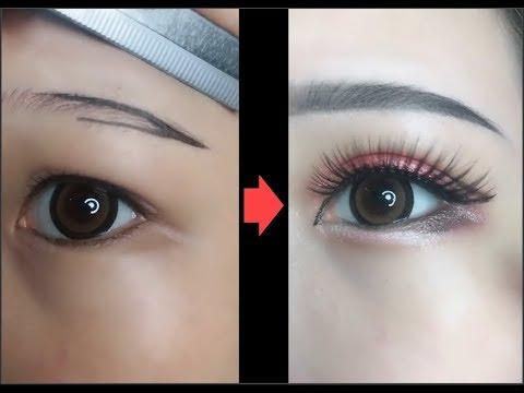 Hướng dẫn kẻ mắt và kẻ chân mày Easy Eyeliner and Eyebrow Tutorial For Beginners