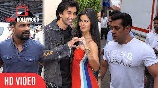 Salman Khan, katrina Kaif, Ranbir Kapoor, Sohail Khan And Remo D'Souza Spotted At Mehboob Studio