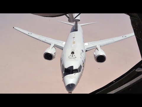 USAF KC-135 Air Refuels RAAF E-7A Wedgetails