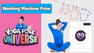 Washing Machine Pose   Cosmic Kids Yoga Pose Universe