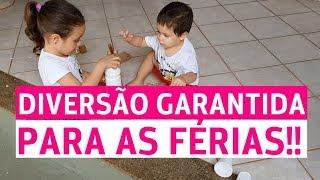 5 IDÉIAS DE BRINCADEIRAS DIVERTIDAS PARA AS FÉRIAS!! | COM PROFESSORA DENISE