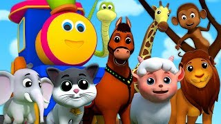 El Sonido de los Animales | Bob el tren | aprende los animales | Animal Sound Song | Kids TV Español