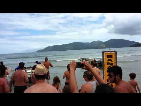 Tartaruga do Projeto Tamar na Praia da Lagoinha