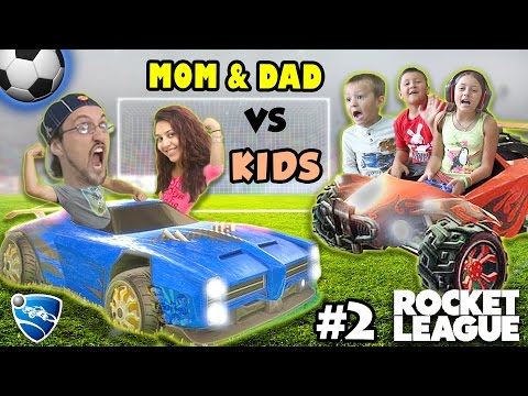 Let's Play Rocket League! PARENTS vs. KIDS - Match #2 (FGTEEV Family Gameplay)