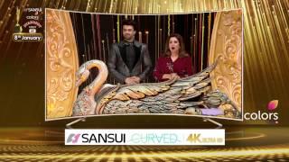 The senational Rekha & Jacqueline Fernandez at Sansui Colors Stardust Awards