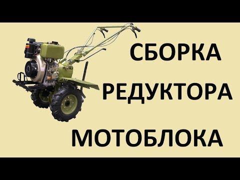 Сборка редуктора мотоблока