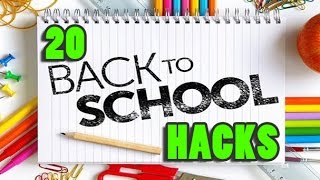 20 Back to School Life Hacks You Should Know! 📌