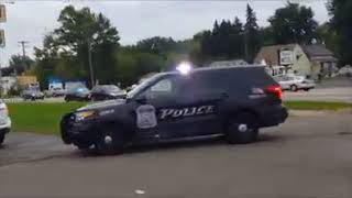 Frustrated that their warnings went unheeded, police swarm cars that pass school bus
