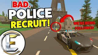 BAD. Police Recruit! - Unturned Roleplay (Police Training And We're Being Followed?)
