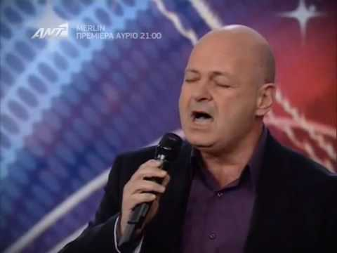 Nikos Georgas Tragoudi Ellada exeis Talento Greece Got Talent Show 16 04 2010 ep4