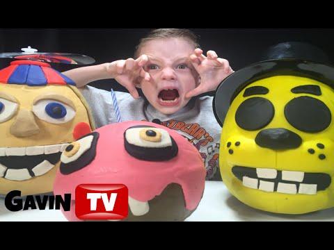 FNAF Triple 3D PlayDoh Eggs Balloon Boy Golden Freddy Cupcake