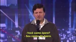 Luiz Meneghin — Brasileiro emociona público e jurado no America's Got Talent  (legendado)