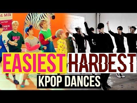 EASIEST VS HARDEST KPOP DANCES BTS EXO TWICE RED VELVET NCT127 AND MORE