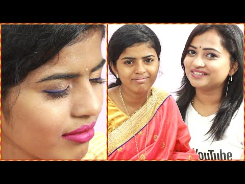 Xxx Mp4 Puja Ka Saree Makeup For Dussehra Festival Househelper Saree Makeover Indian Mom On Duty 3gp Sex