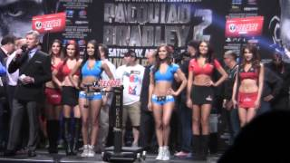 Manny Pacquiao vs Timothy Bradley 2 WEIGH IN