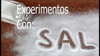 2 Experimentos de Química que puedes hacer con sal