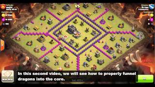 Clan Wars: TH7/TH8 Dragon Attack Strategy - Funneling