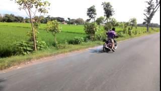 Drag bike liar sragen. Setting poswan jatuh.