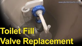 TOILET FILL VALVE REPLACEMENT - Plumbing Tips