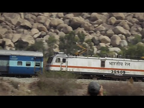 Xxx Mp4 Indian Railway 12295 Sanghamitra SF Express With WAP 7 RPM 30409 Passing Through Tyatkal Hill 3gp Sex