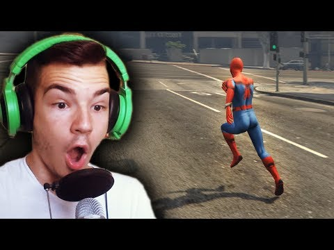SPIDERMAN VS POLICAJCI (GTA 5 Mods)
