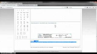 Online LaTeX formula editor and math equation editor