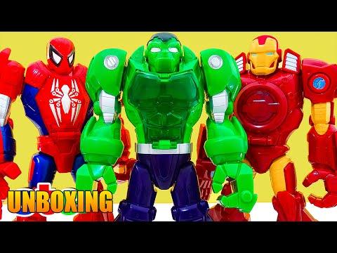 Playskool Heroes Mega Armadura de Spiderman Hulk y Iron Man