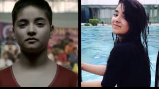 Cute Girl Zaira Wasim:Aamir Khan Cute Daughters in Dangal Movie:Real Life Pics